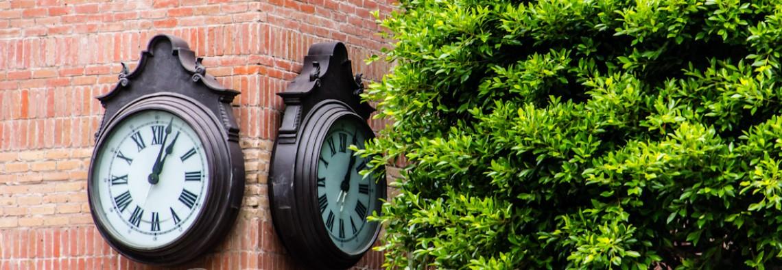 Art Photos - Clocks On Corner