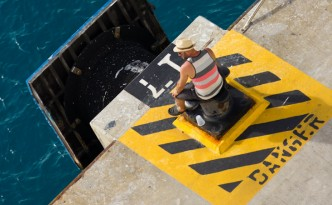 Art Photos - Man On Danger Platform