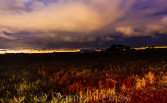 Night Photos - Stormy Clouds Over Farm